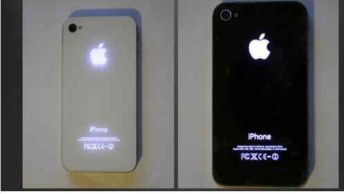 Luminescent Logo Mod Kit For Apple Iphone 4s Black With Glowing