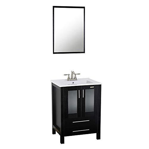 "Eclife 24"" Modern Bathroom Vanity SinkCombo with Overflow"