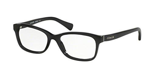 Coach Women's HC6089 Eyeglasses Black 51mm (Rectangle Glasses Designer)