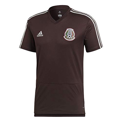 adidas Mexico Men's TRNG Jersey World Cup 2018 (Maroon) (2XL)