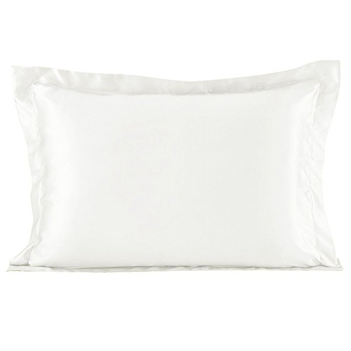 Satin Silk Pillowcase Pillow Covers - YANIBEST Satin Silk Pillowcase For Facial Beauty Hair and Health Care with Envelope Closure Faux Mulberry Silk Fabric Pillow Shams Queen Standard
