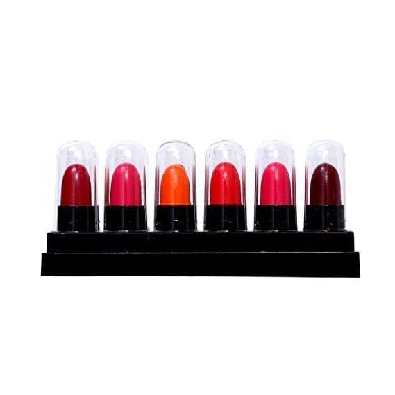 MATT LOOK Super Matte Mini Lipstick, Multicolour, (Pack of 12)