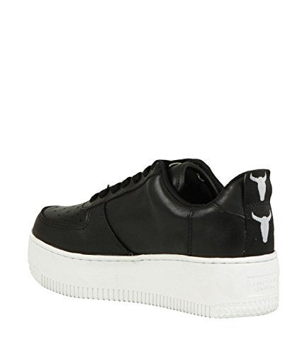 Alto white Sneaker Velvet Black Collo Donna Smith Windsor Racerr A TYUnx4