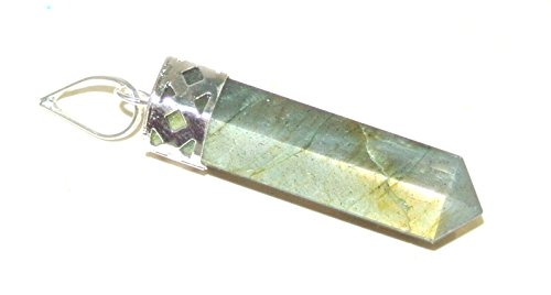 Labradorite Crystal Gemstone Facet Point Wellness Reiki Pendant (Crystal Pendant Labradorite)