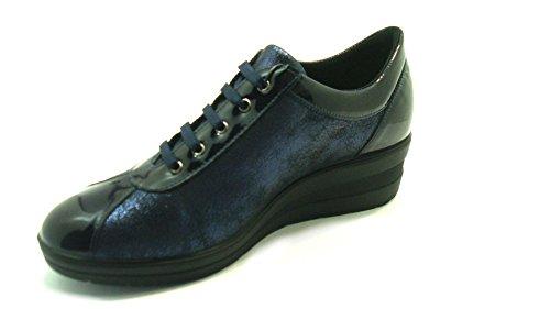 Enval Soft Para Turquesa Zapatillas Mujer Azul Piel De ZvqZrw