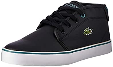 Lacoste Ampthill 118 1 Kids Fashion Shoes, BLK/GRN, 3 US