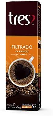 Cápsula de Café Filtrado, Classico, 10 Unidades, Tres, 3 Corações