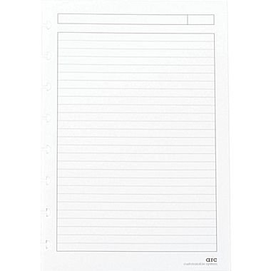 Ruled White Refill - Staples? Arc Notebook Filler Paper, Junior-sized, Narrow-Ruled, White, 50 Sheets