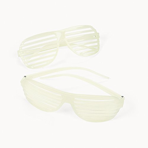 Neon Glow Kanye Shutter Shading Hip Hop Sunlasses, Pack of - Crazy Shades