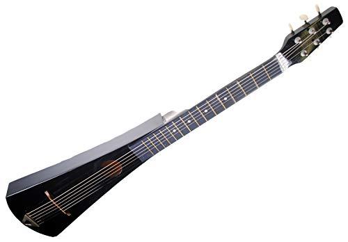 Shop4Omni Steel String Backpacker Travel Guitar with Bag (Black)