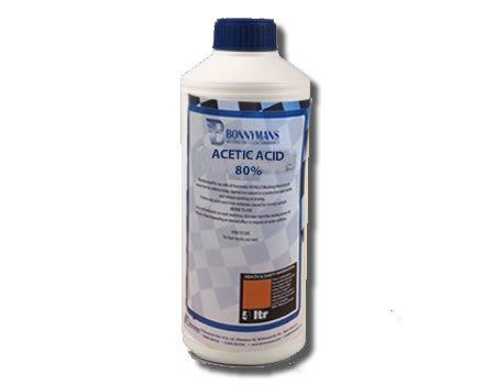 Acetic Acid 80% - Ethanoic Acid - 1 Litre Bonnymanbs FACETIC1