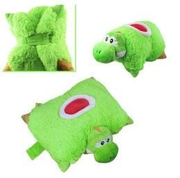 Super Mario Bros Yoshi Transforming Pet Pillow Nap Sleep Car Cushion Plush Doll (1 Piece)
