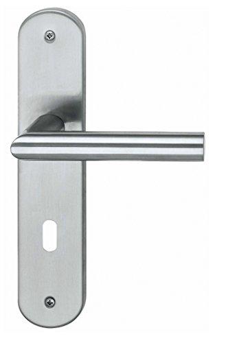 Alpertec Edelstahl Conte - LS Renovierungsgarnitur für Zimmertüren Drückergarnitur Türdrücker Türbeschläge, 28015500