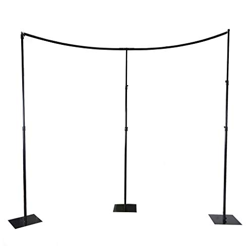 (BalsaCircle 11 feet Heavy Duty Adjustable Curved Pipe and Drape Kit Backdrop Support Stand - Wedding Ceremony Photo Booth Studio Photography Party Supplies)