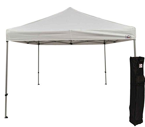 Impact Canopy 10 x 10 Pop Up Canopy Tent, Straight Leg Shelter, Commercial Grade Steel Frame, Roller Bag, White For Sale