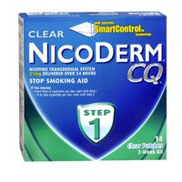 Nicoderm Cq Step 1 Clear Patches, 21 mg, 14 Units (Pack of 6)