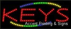 Keys LED Sign (High Impact, Energy Efficient)
