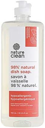 Nature Clean Natural Hypoallergenic Dish Liquid Mandarin Grapefruit 740 ML