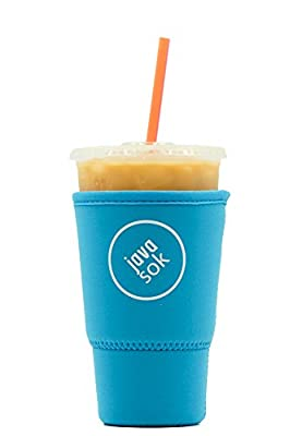 JAVA SOK Reusable Coffee Sleeve - Insulated Neoprene Sleeve for Iced Drinks and Cup Sleeve | Ideal for All Sizes Starbucks Coffee, McDonalds, Dunkin Donuts (More Colors & Sizes)