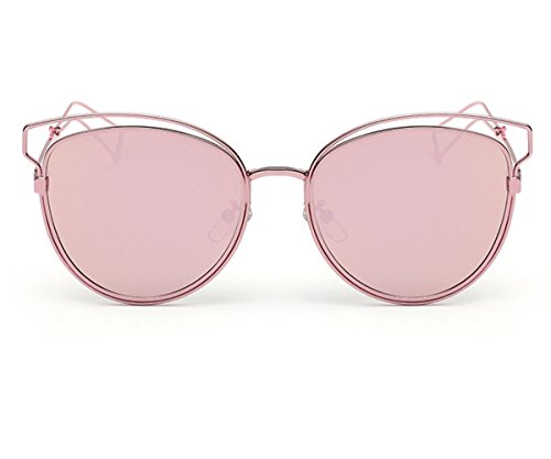 Heartisan Personlized Hollow Metal Cat Eye Frame Full Rim Sunglasses for Womens - 2015 Big Are Glasses In Style