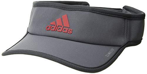 (adidas Men's Superlite Performance Visor, Onix/dark grey/scarlet, One Size)