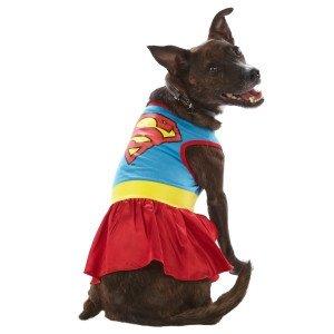 DC Comics Superman Supergirl Dog Dress Costume (Medium) (Supergirl Dog Costume)