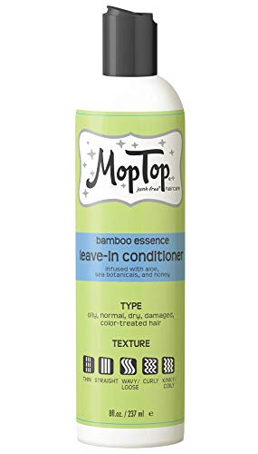 MopTop Leave-in Conditioner for Fine, Thick, Wavy, Curly & Kinky-Coily Natural hair, Anti Frizz Curl Moisturizer, Definer & Lightweight Curl Enhancer w/Aloe, great for Dry Hair.8 Fl.OZ