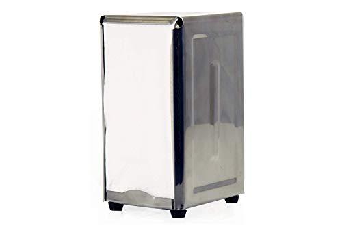 BonBon Stainless Steel Tall Fold Napkin Dispenser Retro 50s Napkin Vintage Holder Dispenser 1950s Restaurant Diner Chrome ()