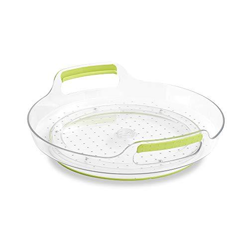 (madesmart Fridge Short Portable Turntable - Green | FRIDGE COLLECTION | Soft-grip Handles for Portability | 360 Rotation | Non-slip Base | BPA Free)