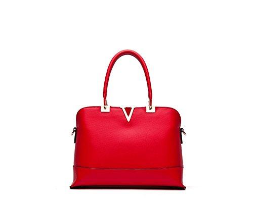 New Winter QCKJ-Lorenz-Borsa a tracolla da donna in ecopelle, colore: rosso