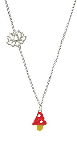 3-d-red-and-white-mushroom-delicate-lotus-necklace