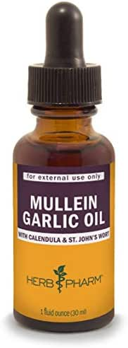 Herb Pharm Mullein Garlic Herbal Oil - 1 Ounce