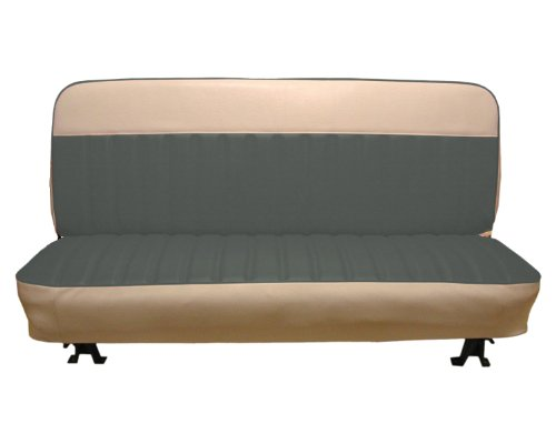 Bench Seat Upholstery (Acme U104-0702W Front Charcoal Vinyl Bench Seat Upholstery with White Upper)