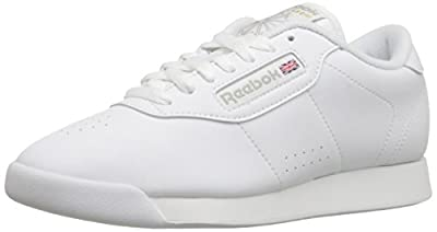 Reebok Womens Princess Classic Low Top Lace Up Running Sneaker, White, Size 7.0
