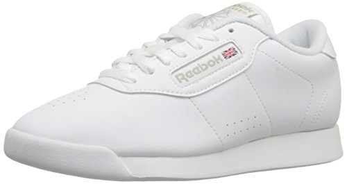 Shoes Wide Trendy Width - Reebok Women's Princess Aerobics Shoe, White, 8.5 M US