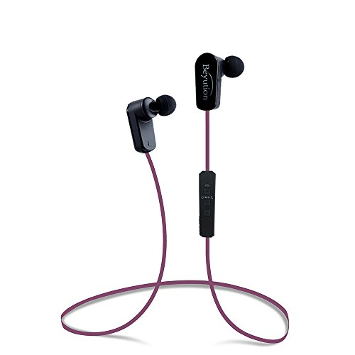 Beyution New Sports Hi-fi Bluetooth 4.1 Version Bluetooth Headphones -Mini Lightweight Wireless Stereo Sports/Running Bluetooth Earbuds Headphones Headsets Built in Mic-Phone (508s-v4.1-hot Pink)