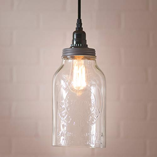 Clear Glass Jug Pendant Light