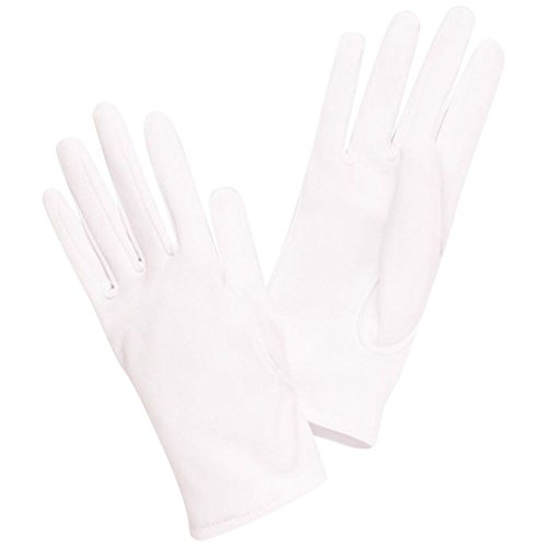 Girls Matte Satin Wrist-Length Gloves Style FINLEY, White, XXS from David's Bridal