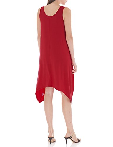 Swing Short Dress Sleeveless Sleeve Neck H2H Womens red Cwdsd0144 Round Tunic Midi ngqI18Z