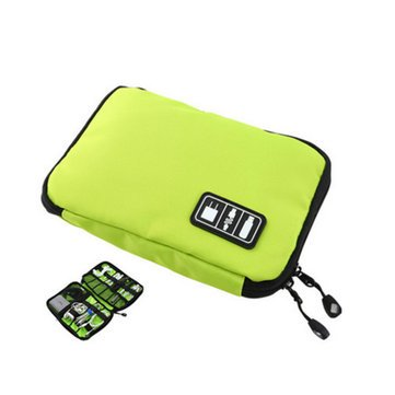 HN- Housekeeping & Organization Storage Bags -CB2 Waterproof Cable Storage Bag Electronic Accessories Organizer Travel Carry Case Green