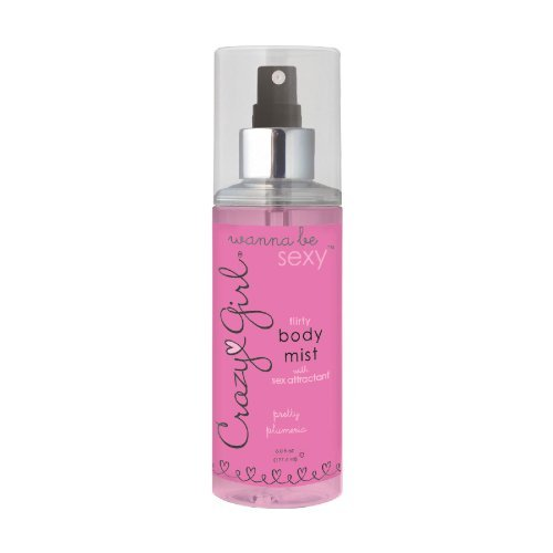 Crazy Girl Wanna Be Sexy Flirty Body Mist With Pheromones - Pretty Plumeria (Arousal Spray)
