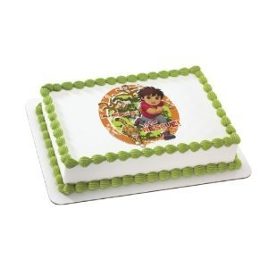 Image Unavailable Not Available For Color Go Diego Edible Cake Topper Decoration By A Birthday Place