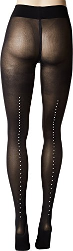 Wolford Women's Pearl Back Seam Tights Black/Pearl Large by Wolford (Image #2)