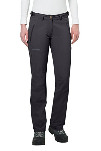 VAUDE Women's Farley Stretch Pants II – Women's Stretchable Hiking Pants – Outdoor Pants for Easy Care and Staying Cool – Basalt, 42