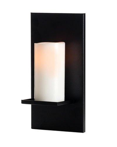 Mariano Metal Decor WA-CAN-1-BLK Black Ridge Candle Sconce/Metal Wall Decor Art