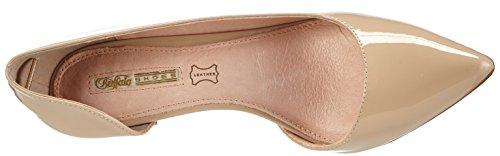 Buffalo H733-25 P2010F - zapatos de tacón cerrados de material sintético mujer beige - Beige (NUDE 01)