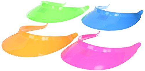 Dozen Assorted Neon Brights Plastic (Plastic Visors)