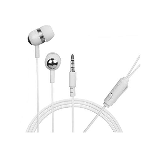 Hitage Champ Wired in Ear Headset with Mic  White