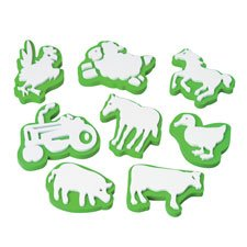 Constructive Playthings Jumbo Ink Farm Animal Stampers Set of 8 Sizes 2