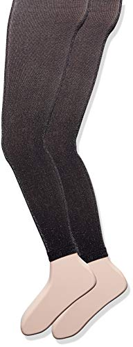 - Country Kids Little Girls' Sparkly Footless Tights 2 Pair, Black, 6-8 Years
